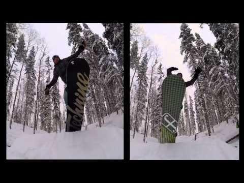 Snowboarding on the Ridge II - Bigger and Better! - Tumbler Ridge, Briti...