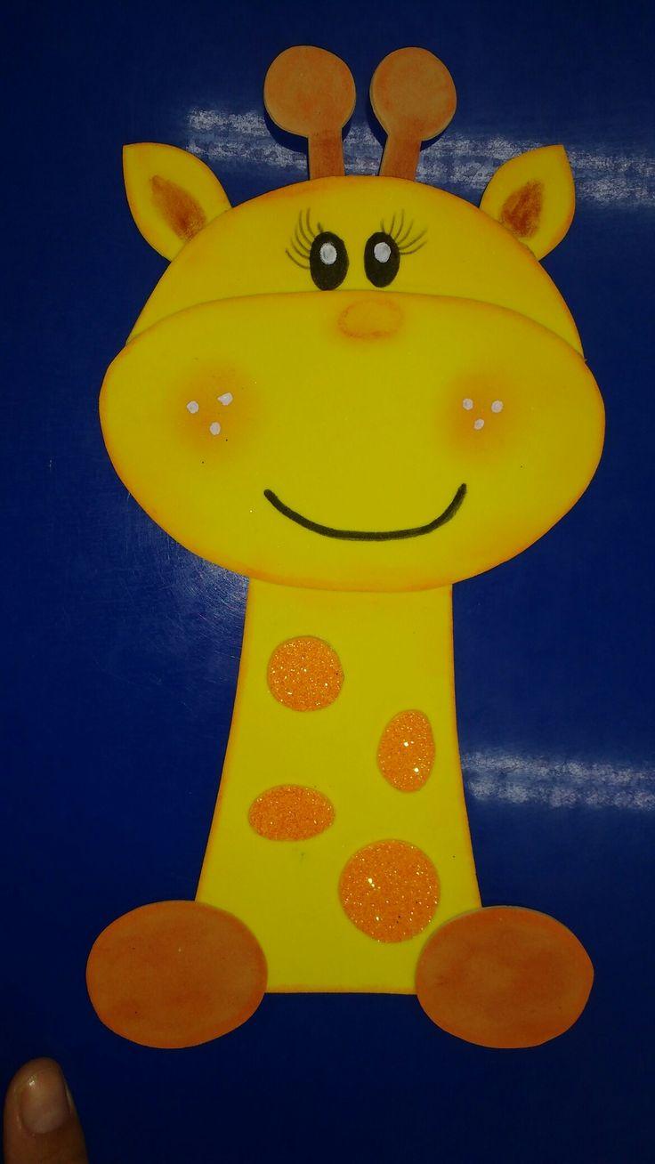 Bella jirafa animada
