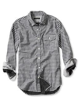 Tailored Slim-Fit Double-Face Gingham Shirt