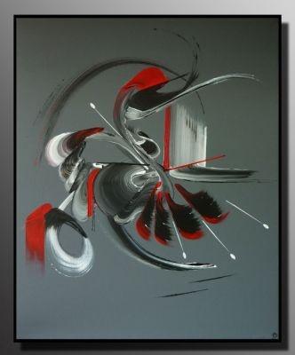 Peinture abstraite LE DETOUR 50X61  http://www.mapeinturesurtoile.com