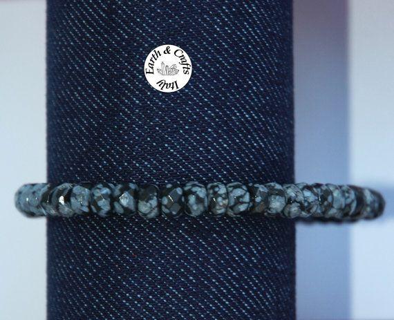 Bracciale elastico con 49 pietre taglio a di EarthandCraftsItaly