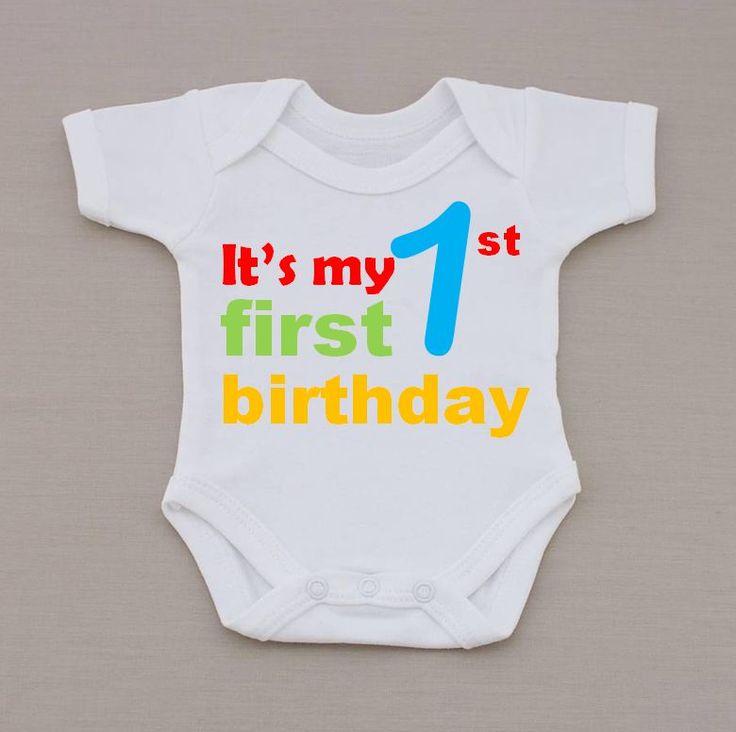 Funky It's My 1st Birthday Baby Vest / Bodysuit