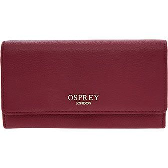 Osprey London Burgundy Leather Purse