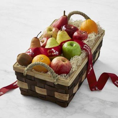 Large Fruit Basket, Custom Ribbon