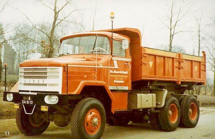 1968 De GINAF T12 DAF/ Scania motor van 230pk Heb ik bij de Firma Kleine uit Hollandschveld af en toe ook is een vrachtje mee gedaan.