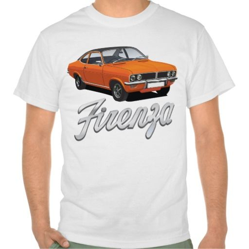 Vauxhall Firenza orange, black roof with text #vauxhall #firenza #vauxhallfirenza #automobile #tshirt #tshirts #70s #classic