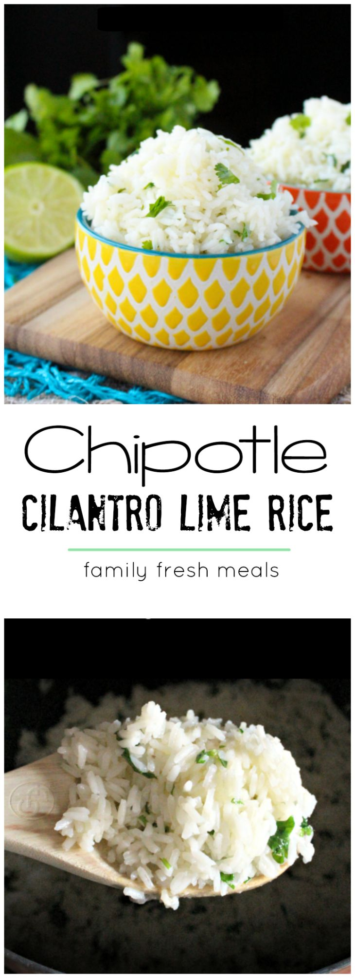 The yummiest Copycat Chipotle Cilantro Lime Rice Recipe!