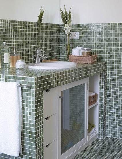 Las 25 mejores ideas sobre muebles de concreto en for Construccion banos pequenos