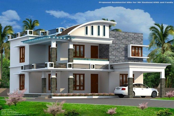 2300 Sq Ft 4 Bhk Modern Home Design By Shamim Modern House Kerala House Design House Design