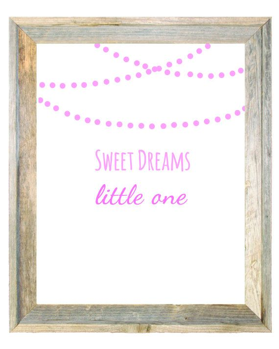 Sweet Dreams Little One Pink Wall Art Print by IslaKateDesigns