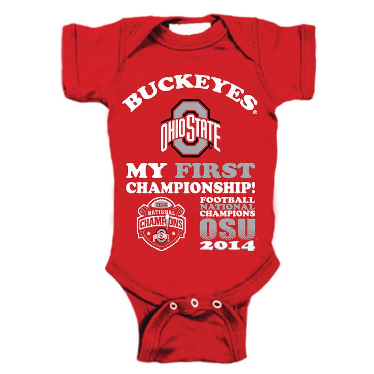 Ohio State Buckeyes Newborn/Infant 2014 College Football Playoff National Champions My First Championship Creeper – Scarlet
