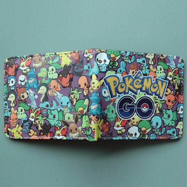 Pocket Monster Pokemon Wallet For Teenager Boy Girl Kawaii Pikachu Poke Ball Wallet Leather Student Dollar Bag Card Holder Purse