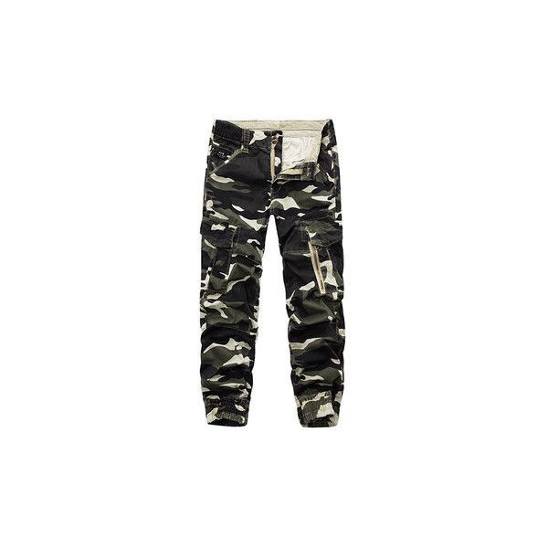 s Camouflage Multi Pockets Casual Cotton Cargo Pants (61 BAM) ❤ liked on Polyvore featuring men's fashion, men's clothing, men's pants, men's casual pants, white, mens camo pants, mens cotton pants, mens camouflage pants, mens white cargo pants and men's casual cotton pants