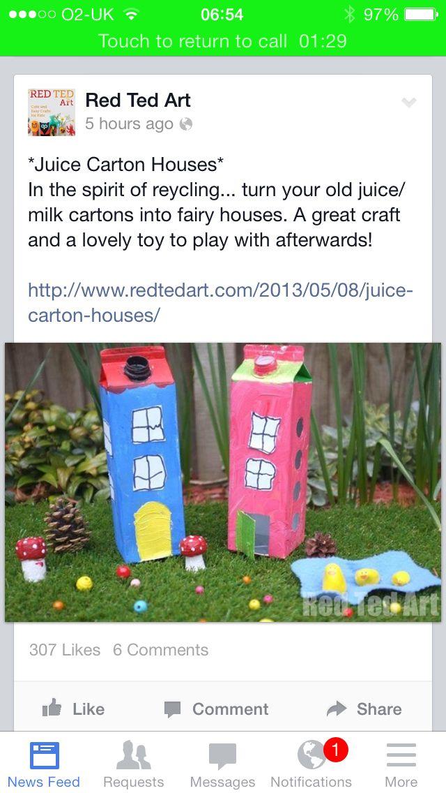 Carton junk model houses