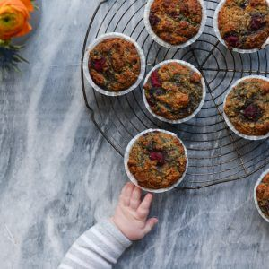 Post baby update & Awesome Berry and Almond Muffins – A Tasty Love Story