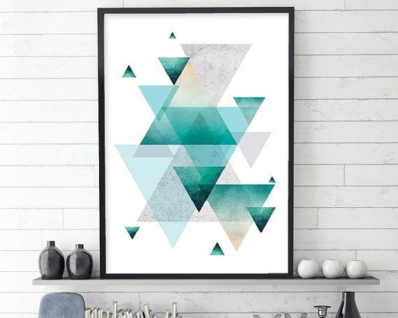 Geometric Poster Geometric Print by UrbanEpiphanyPrints on Etsy