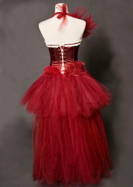 Scarlett Burlesque Las Vegas Showgirl HandDyed TULLE by mmegigi