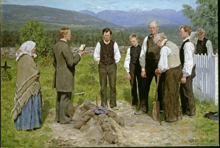 Erik Werenskiold (1855-1938): The Funeral