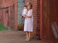 dress pattern for girl and AG doll, free: Dolls Dresses Patterns, Doll Dresses, Girls Sundresses, 18 Inch Dolls, Sun Dresses, Free Patterns, Ag Dolls, Popover Sundresses, Sewing Patterns