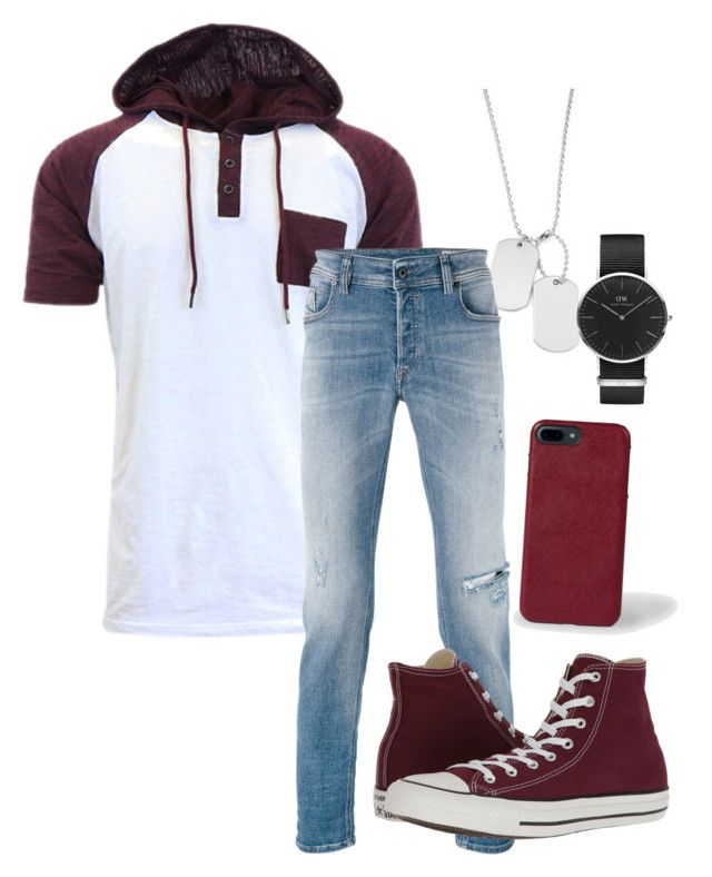 """""""Cali Night Out"""" by dijonbrooks on Polyvore featuring Variations, Daniel Wellington, Diesel, Converse, Paul Smith, men's fashion and menswear"""
