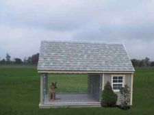 Dog kennel shed combo google search outdoor living for Dog kennel shed combo plans