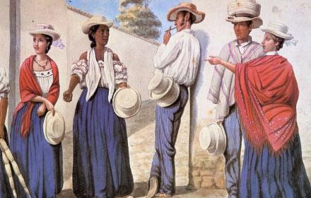 Moda En Las Culturas del mundo: Moda en el siglo XIX en Colombia