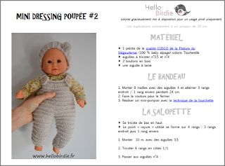 Hello birdie tuto mini dressing poupon pinterest - Tuto dressing ...