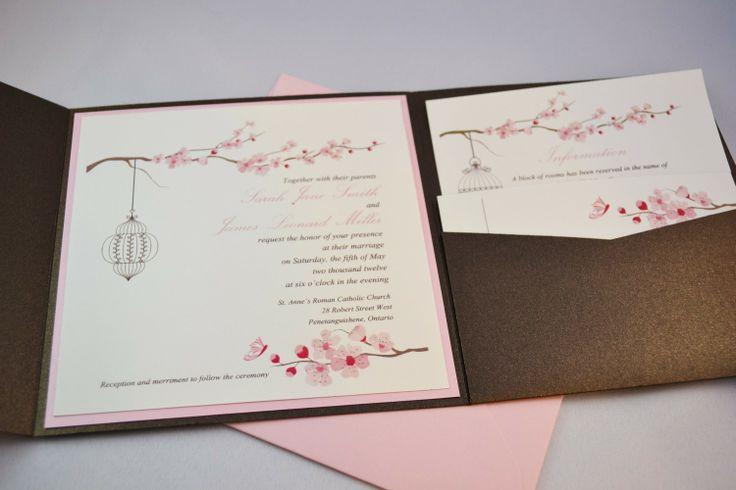 Canadian Wedding Invitations: Cherry Blossom Wedding Invitations Canada