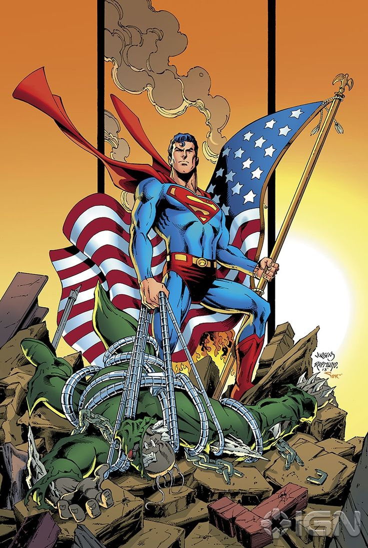 Superman victorious over Doomsday