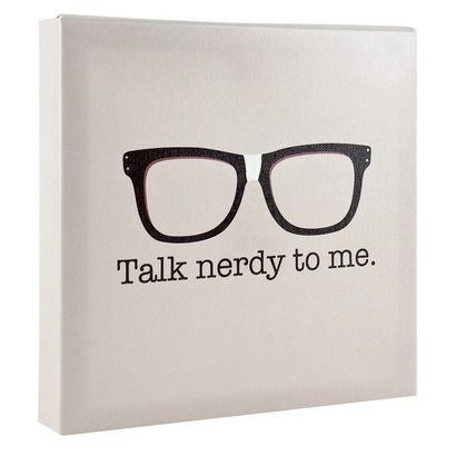"""""""Talk nerdy to me"""" wall canvas *No longer available*. wall art. wall and home décor. office. glasses. geek. funny. humor."""