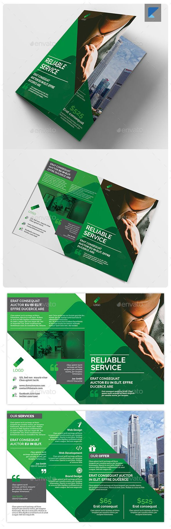 corporate bi fold brochure template - 1000 images about brochures templates on pinterest