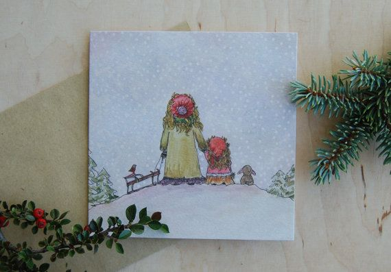 Christmas card Christmas drawing Christmas by mydesignpictures