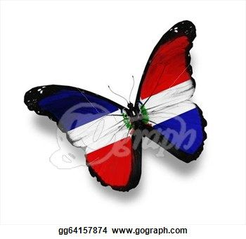 how to draw dominican republic flag
