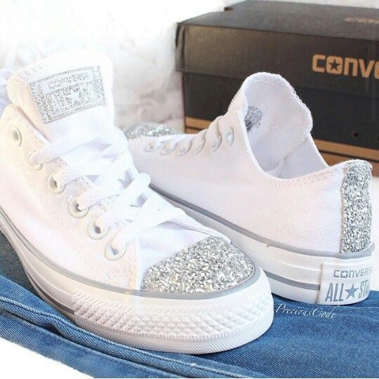 Glitzer converse shoes
