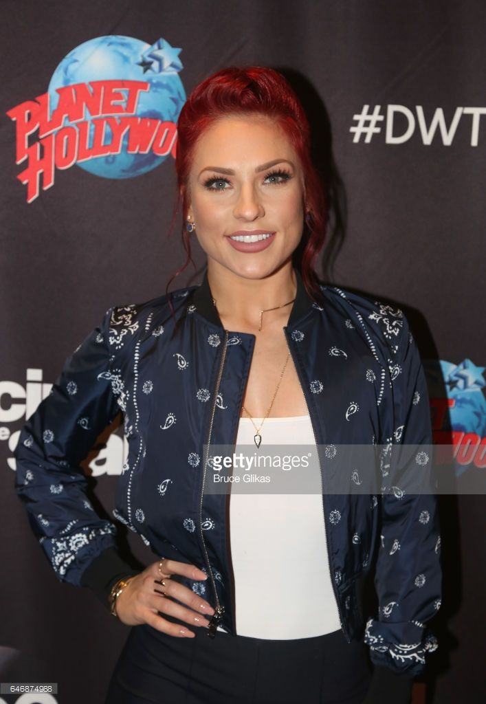 Sharna Burgess poses at the 'DWTS Season 24 cast Announcement & Press Junket' at Planet Hollywood Times Square on March 1, 2017 in New York City.