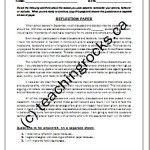 Homework Paper, Reflection Paper and Behavior Paper!