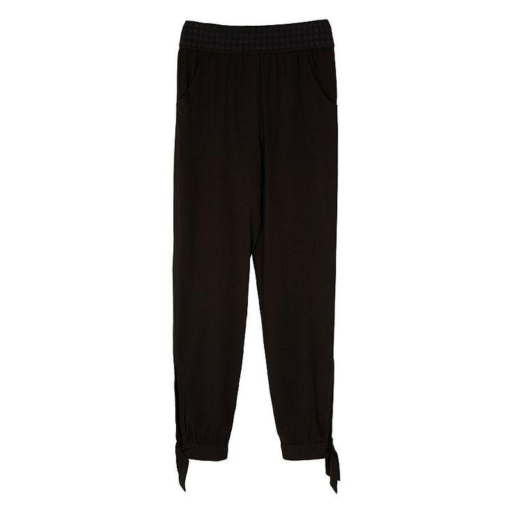 Girls 7-16 IZ Amy Byer Crop Pants, Girl's, Size: XL, Black