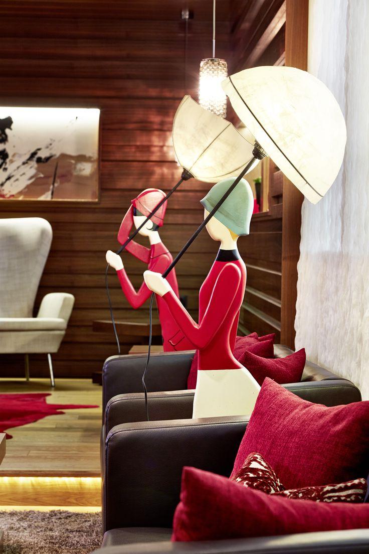 Lounge im stimmungsvollen Ambiente im Hotel Feldhof Naturns