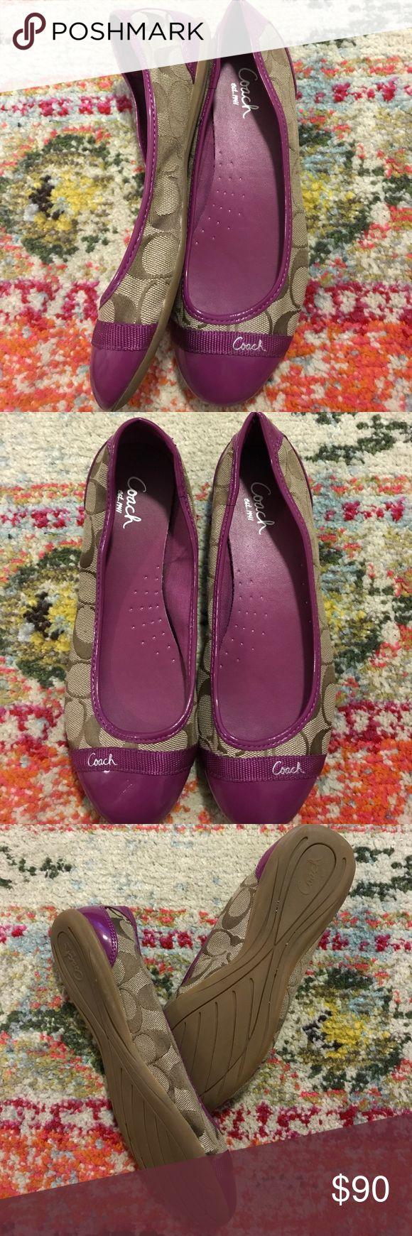 Coach flats Purple and Tan coach flats. Lightly worn. Coach Shoes Flats & Loafers