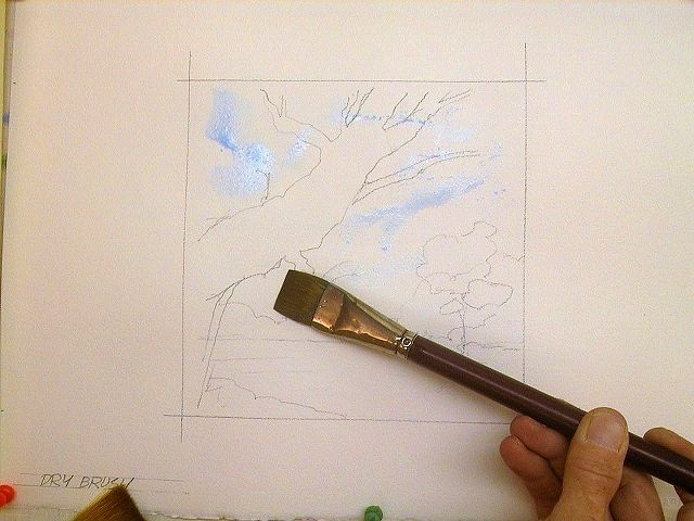 Watercolor Techniques: Dry brush Watercolor painting tutorial - drybrush © 2010 G. Conley
