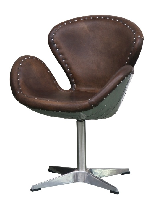 Armchair, Devon Collection.   Original industrial style swivel chair. Quilted, upholstered with leather. The unique shape and high quality materials make the chair an interesting decorative element for lofts. Also a great piece of furniture in classic interiors.