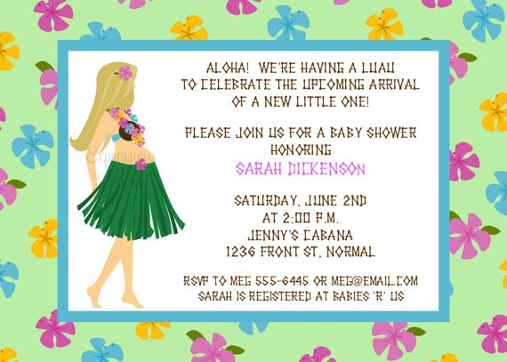 56 best Baby Luau Shower images on Pinterest Baby showers, Luau - baby shower flyer templates free