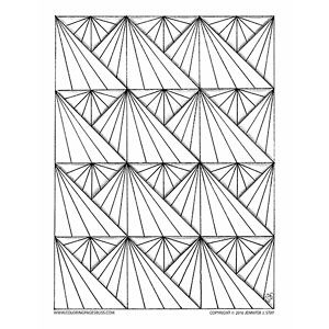 Geometric Sunbursts Coloring Page This Repeating Pattern Is Perfect For A Relaxing And Blissful