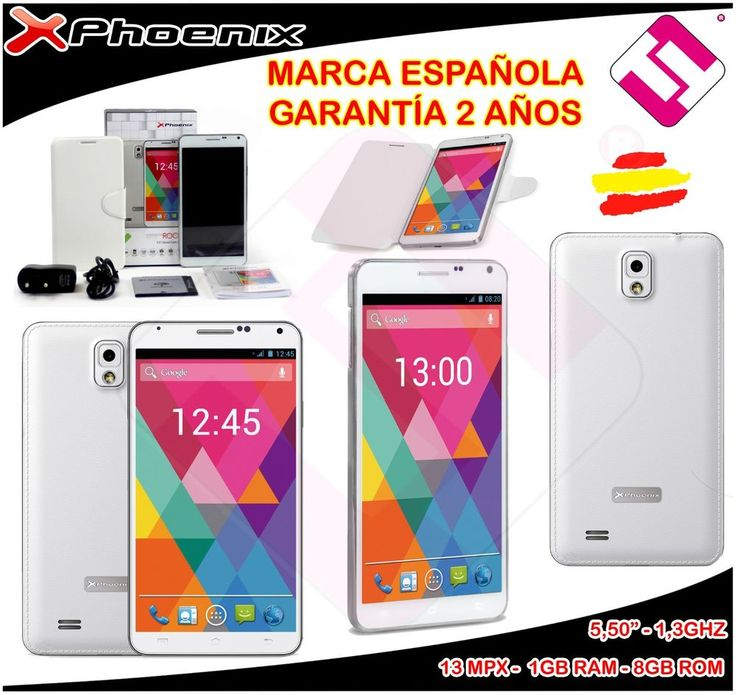 SMARTPHONE IPS 5,5 TELEFONO MOVIL LIBRE PHOENIX ROCK XL 3G QC 1,3GHZ 8GB 1GB RAM