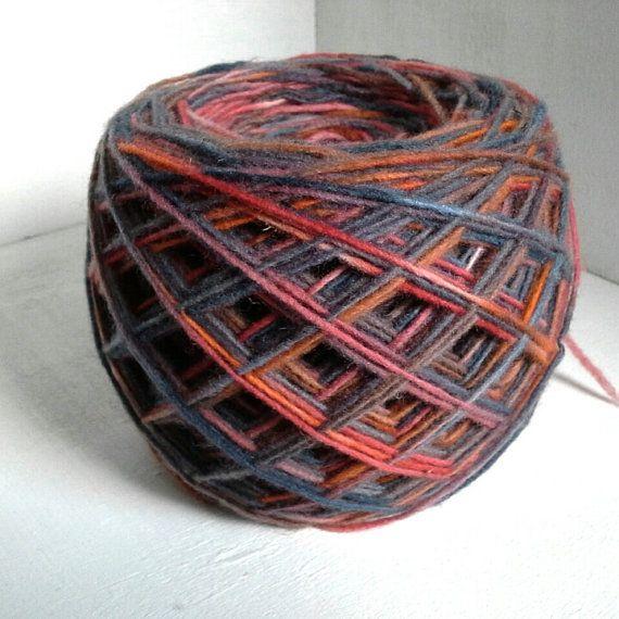hand dyed yarn multicolor fingering yarn wool yarn by KoloroStudio
