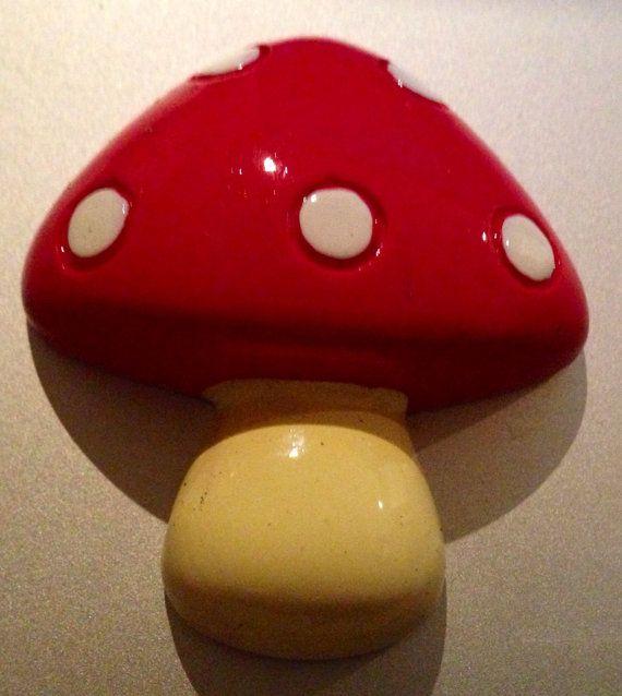 Mushroom Brooch by KatieHootie on Etsy, $8.00