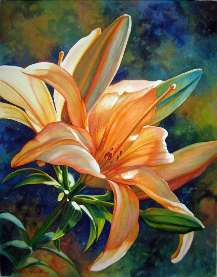 Karen Sioson Watercolors: liliums