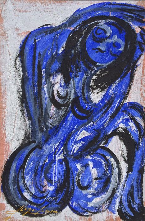 """Desnudo en Azul"" by Chucho Reyes"