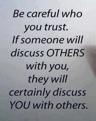 Its funny that you think you can trust people, but they ...