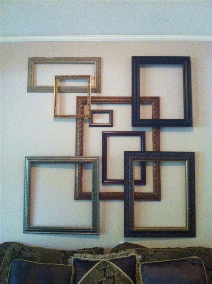 Did this picture frame collage instead of a headboard